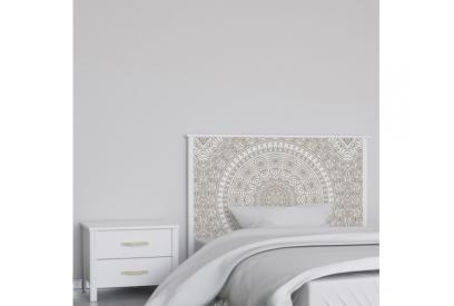 Cabecero cama de matrimonio de 159 cm en chapa melaminizada de alta calidad mix905