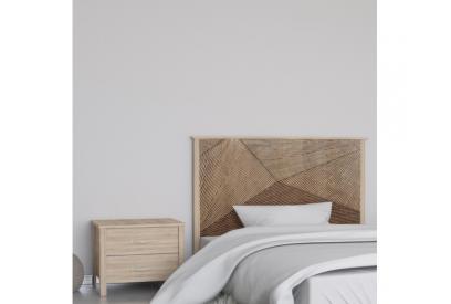 Cabecero cama de matrimonio de 159 cm en chapa melaminizada de alta calidad mix904