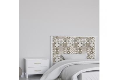 Cabecero cama de matrimonio de 159 cm en chapa melaminizada de alta calidad mix903