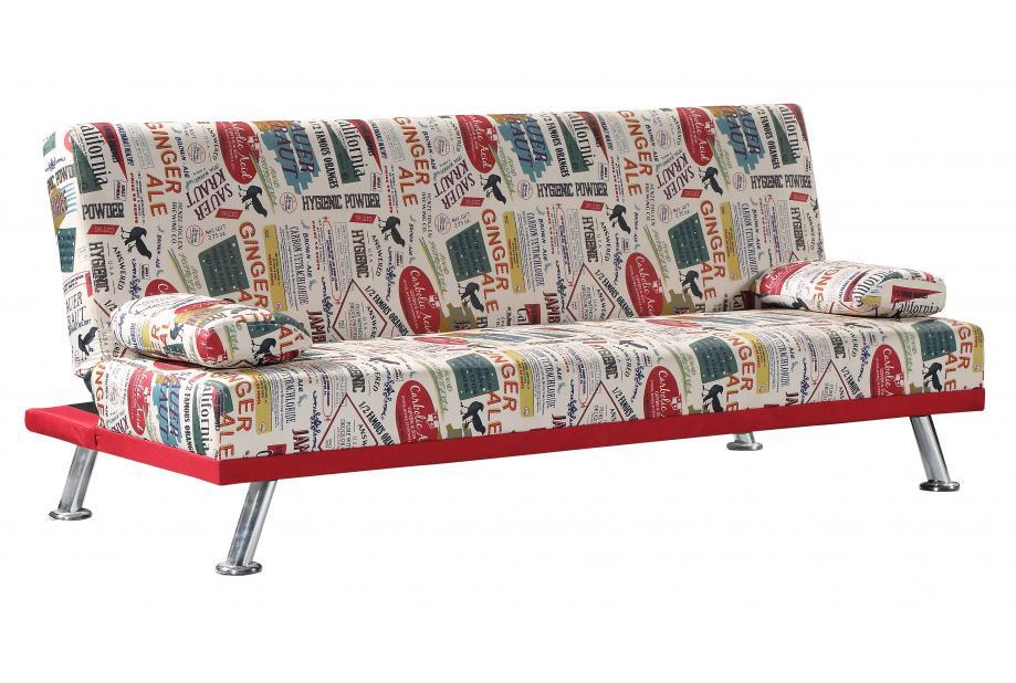Sofá cama con sistema de apertura clic clac estampado