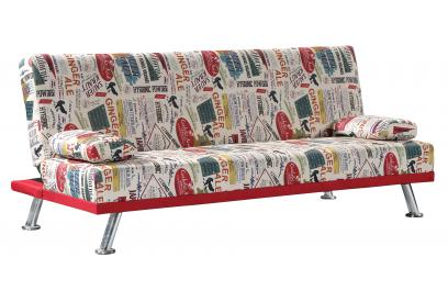Sofá cama 188 cm color estampado