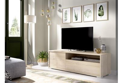Mueble de tv de diseño nórdico 130 cm color natural