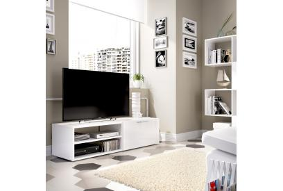 Mueble de tv 131 cm color blanco brillo