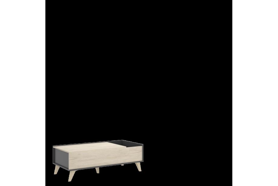 Mesa de centro nórdica elevable 99 cm color natural y grafito
