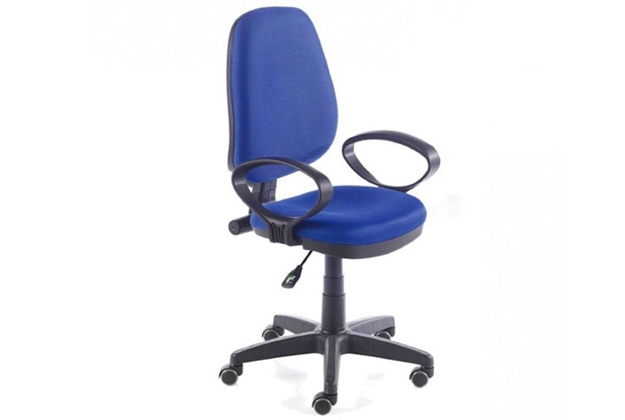 Silla oficina con brazos Tamesis azul