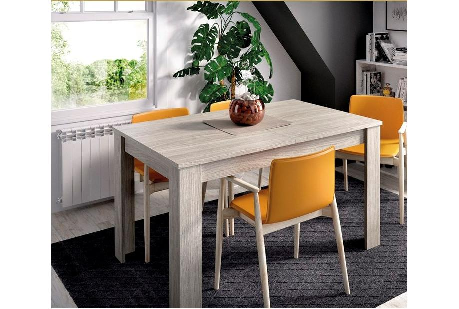Mesa extensible moderna y barata en gris