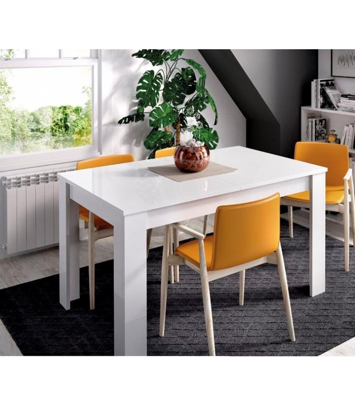 Mesas de comedor liquidatodo mesa extensible 90 cm for Mesa comedor blanco brillo