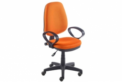 Silla oficina con brazos Tamesis naranja