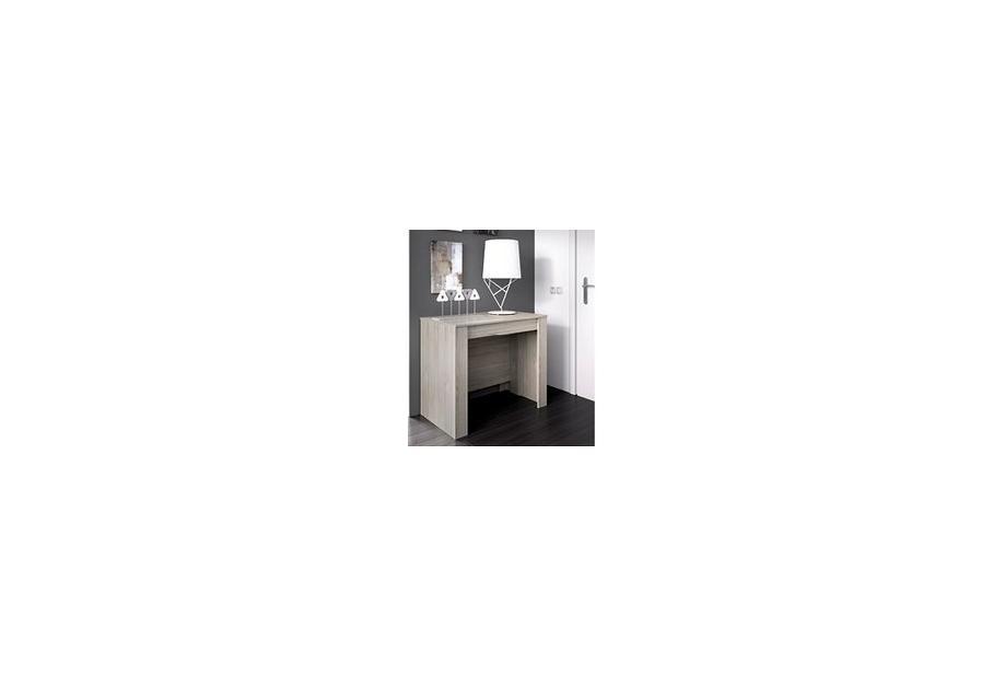 Mesa consola extensible 90 cm color gris