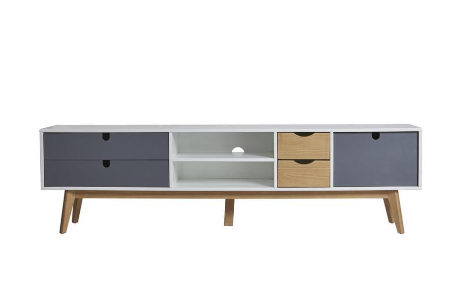 Mueble de TV en pino y dm multicolor de 180 cm