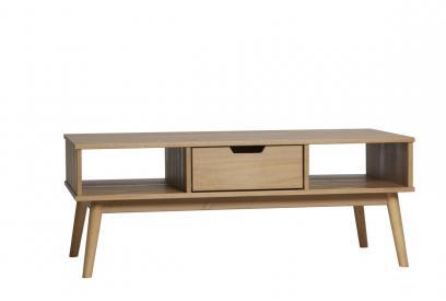 Mesa de centro en pino color cera de 110 cm