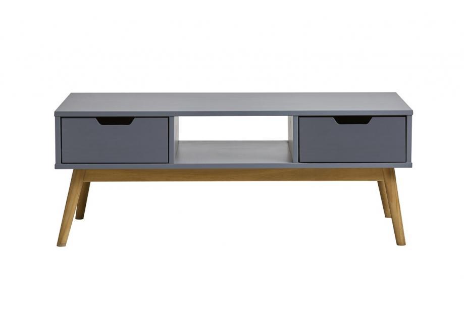Mesa de centro en pino color gris de 110 cm
