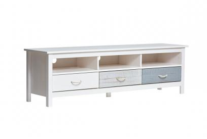Mueble de TV en pino multicolor de 158 cm