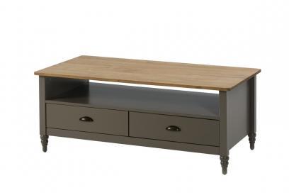 Mesa de centro en pino color gris de 117 cm