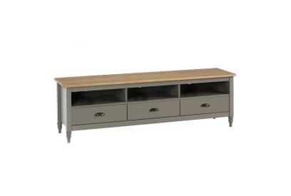 Mueble de TV en pino color gris de 158 cm