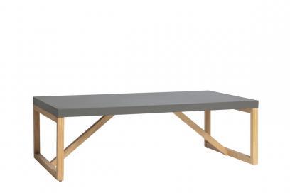 Mesa de centro en pino y dm color gris de 110 cm