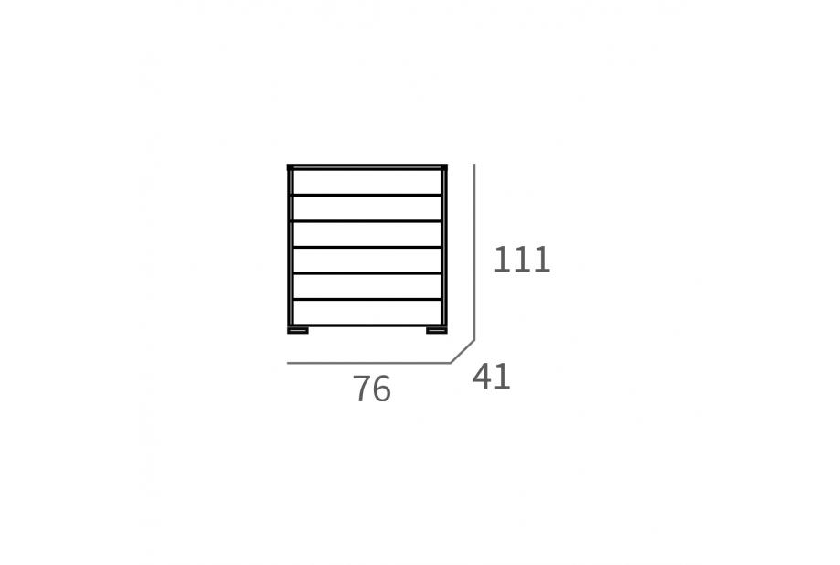 Cómoda en blanco de 111 x 76 cm