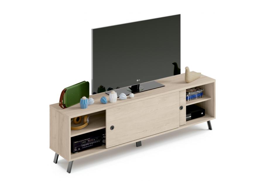 Mueble TV en color aurora puertas correderas