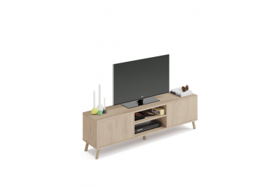 Mueble TV nórdico con apertura push