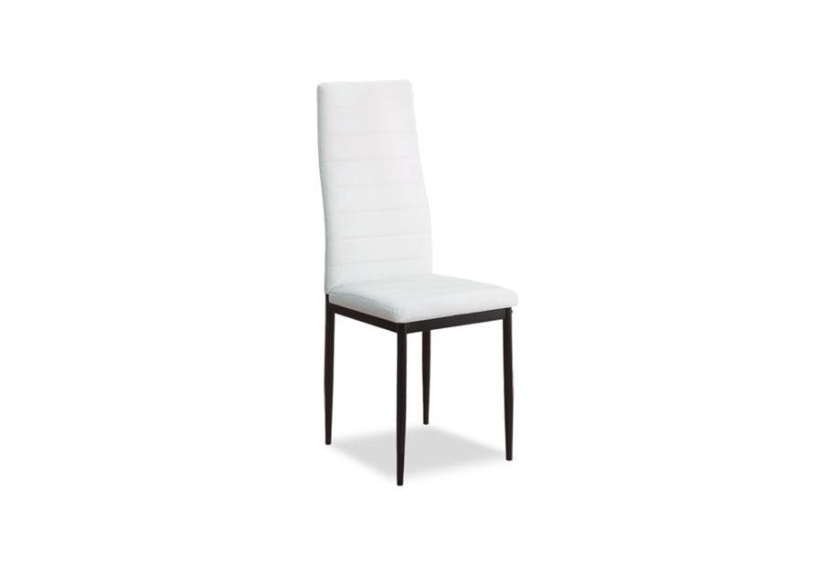 Juego 6 sillas de comedor con estructura de metal y polipiel en blanco