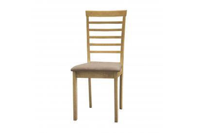 JUEGO DE 2 SILLAS en color roble y asiento beige - priscila