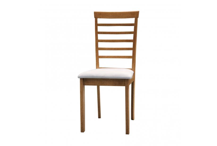 JUEGO DE 2 SILLAS en color cerezo y asiento blanco - priscila