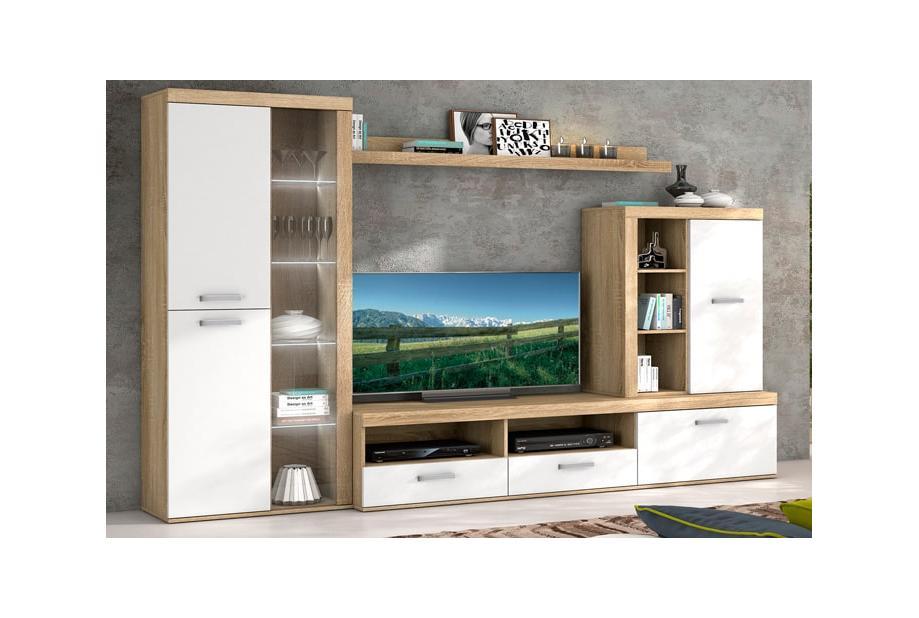 Composiciones de salón 260 cm. 012-953 EXP Colores Roble cambrian blanco liso - Lotto
