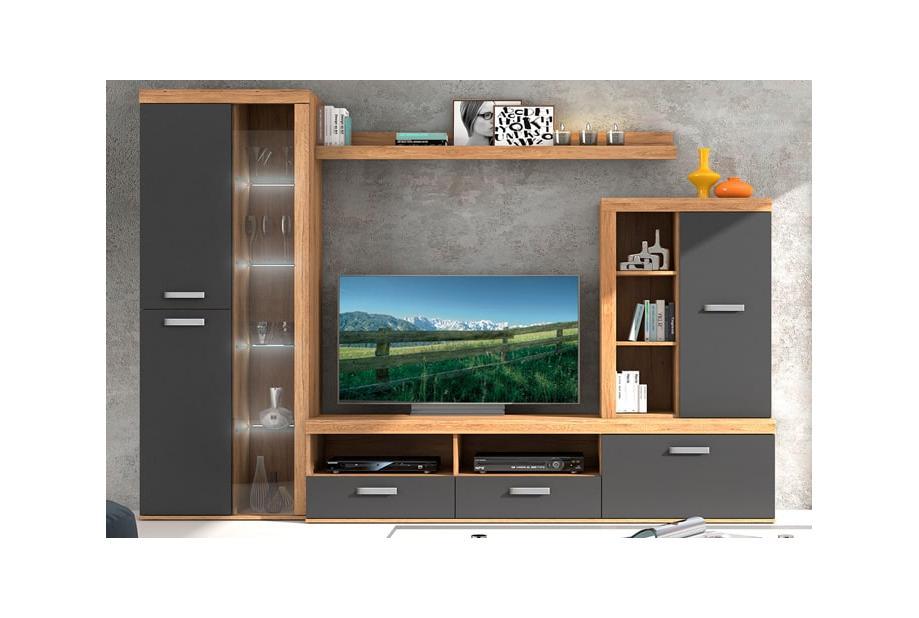 Composiciones de salón 260 cm. 012-953 EXP Colores Roble riviera grafito V