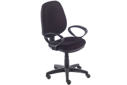 Silla oficina con brazos Tamesis negra