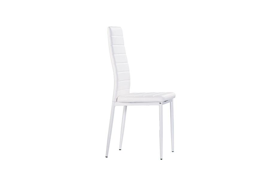 Pack 4 sillas polipiel blanco