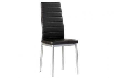 Pack 4 sillas polipiel negro