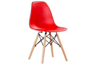 Pack 4 sillas polipropileno rojo