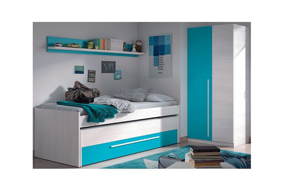 Dormitorios completos liquidatodo dormitorio juvenil cyan for Cuartos completos