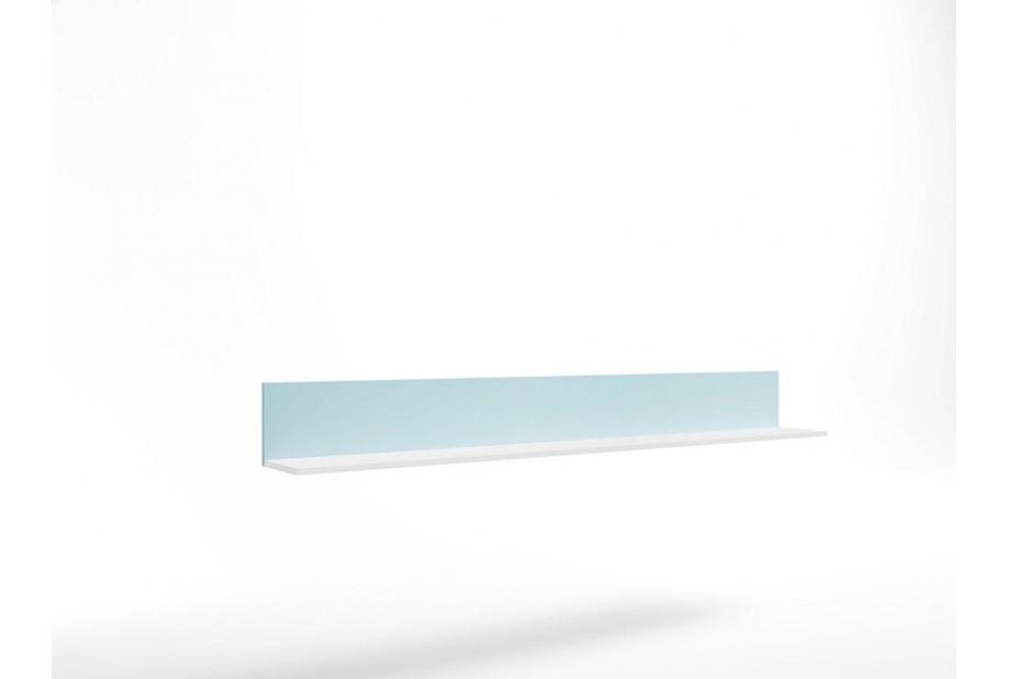 Estanteria juvenil moderna y barata de 195 cm en color blanco azul nube
