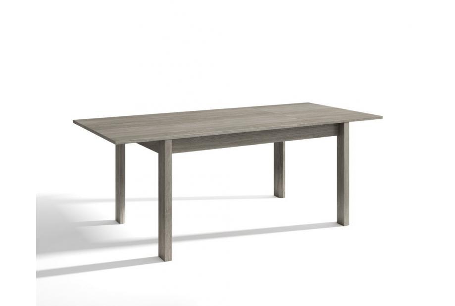Mesa extensible 140x90 moderna y barata en color trufa