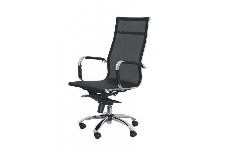 Silla de oficina ergonómica con dispositivo basculante multiposición y regulable en altura en color negro
