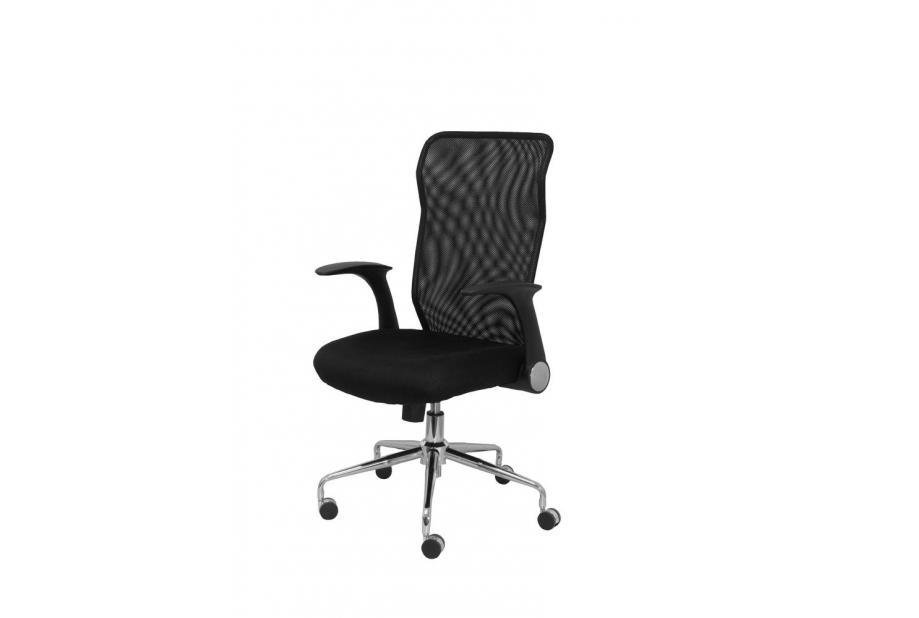 Silla de oficina ergonómica con dispositivo basculante moderna y barata en color negro