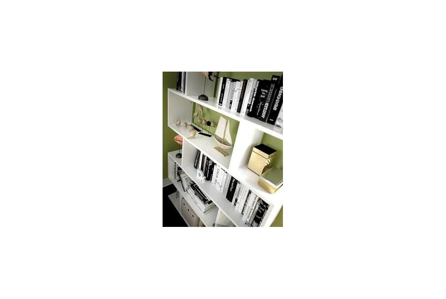 Estantería moderna e irregular color blanco| Liquidatodo.es