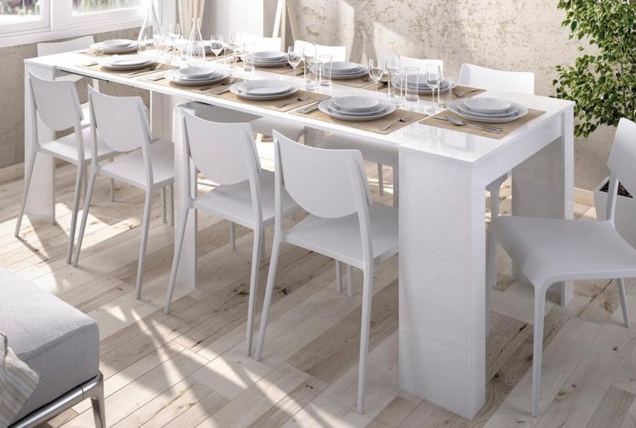 Mesas de comedor liquidatodo mesa consola extensible for Mesa extensible moderna