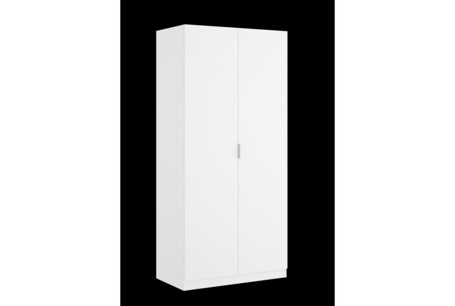 Armarios liquidatodo armario de 2 puertas de 80 cm for Armario de dormitorio blanco barato