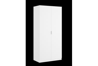 Armario de 2 puertas de 80 cm moderno y barato color blanco