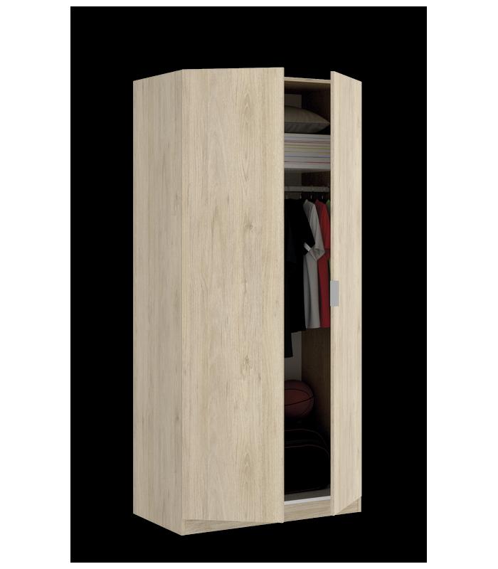 Armarios liquidatodo armario de 2 puertas moderno y for Armario 80 cm