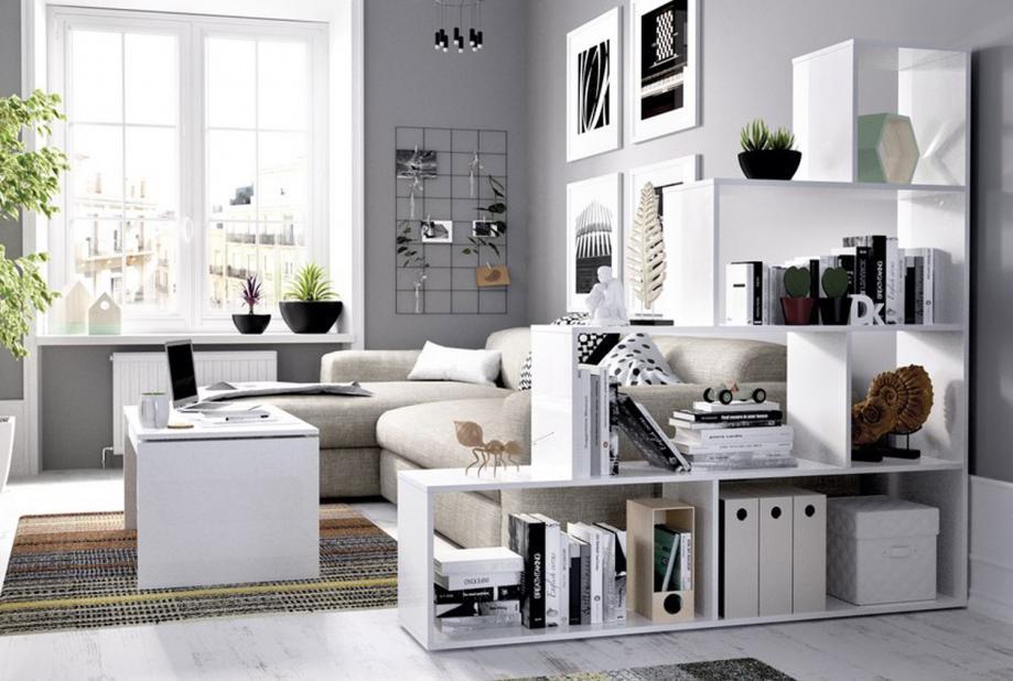 Estantería escalonada color blanco brillo