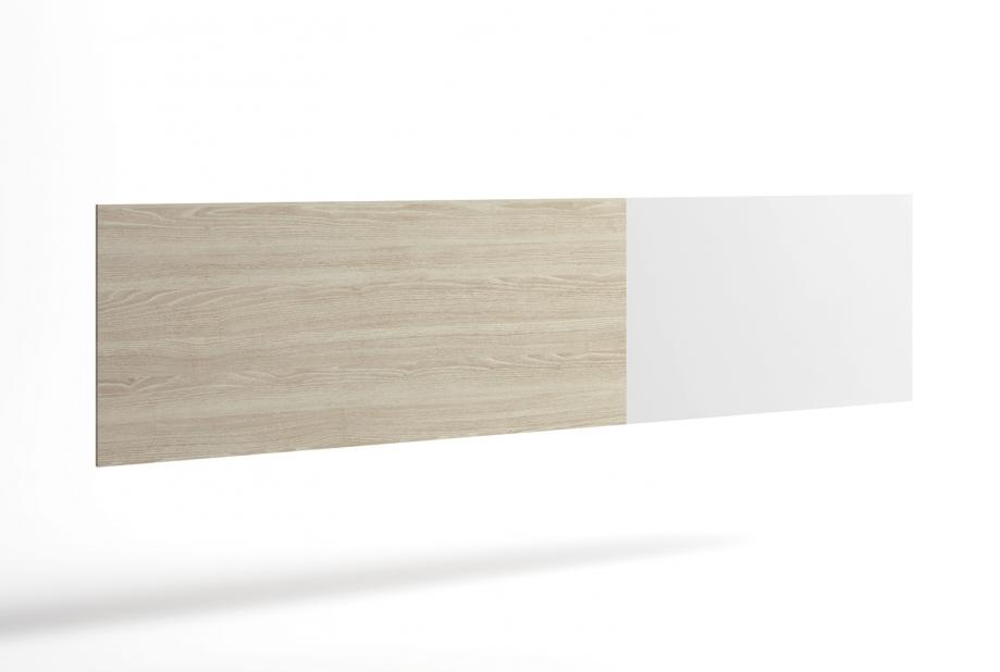 Cabecero para cama de matrimonio de 208 cm moderno y barato color Sable y Blanco