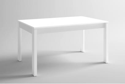 Mesa extensible 140 x 90 moderna y barata en color blanco