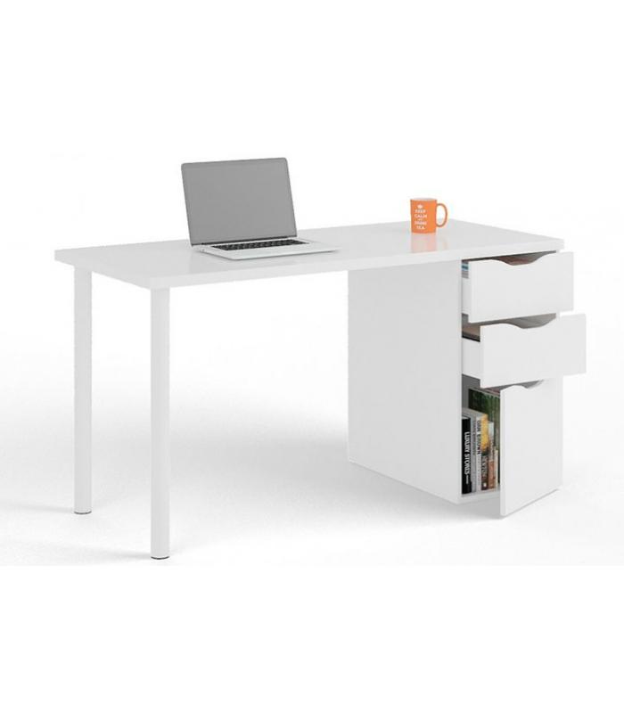 Mesas de oficina liquidatodo escritorio blanco con cajones estilo moderno - Escritorio cajones ...