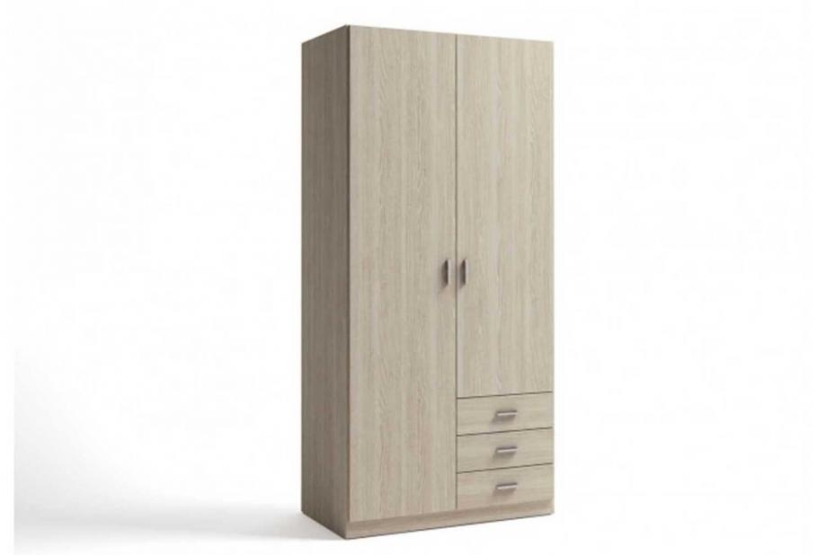 Armarios liquidatodo armario de 2 puertas y 3 cajones for Armario de dormitorio blanco barato