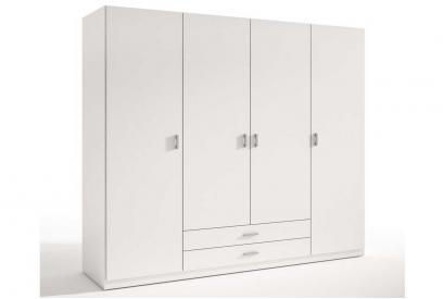 Armario de 4 puertas y dos cajones moderno y barato de 198 cm Blanco