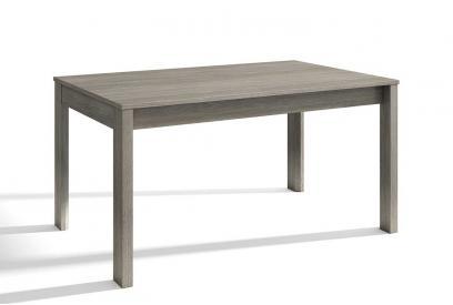 Mesa extensible de comedor de 140 cm moderna y barata en color trufa