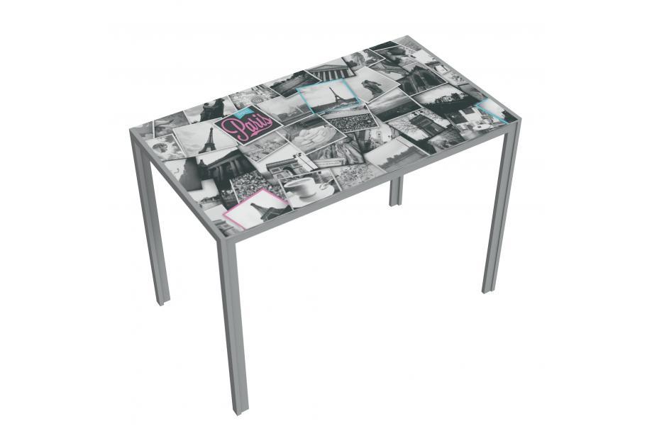 Mesa cocina moderna y barata estructura gris y serigrafia collage of paris